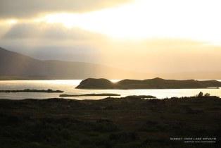 Sunset over Lake Mývatn