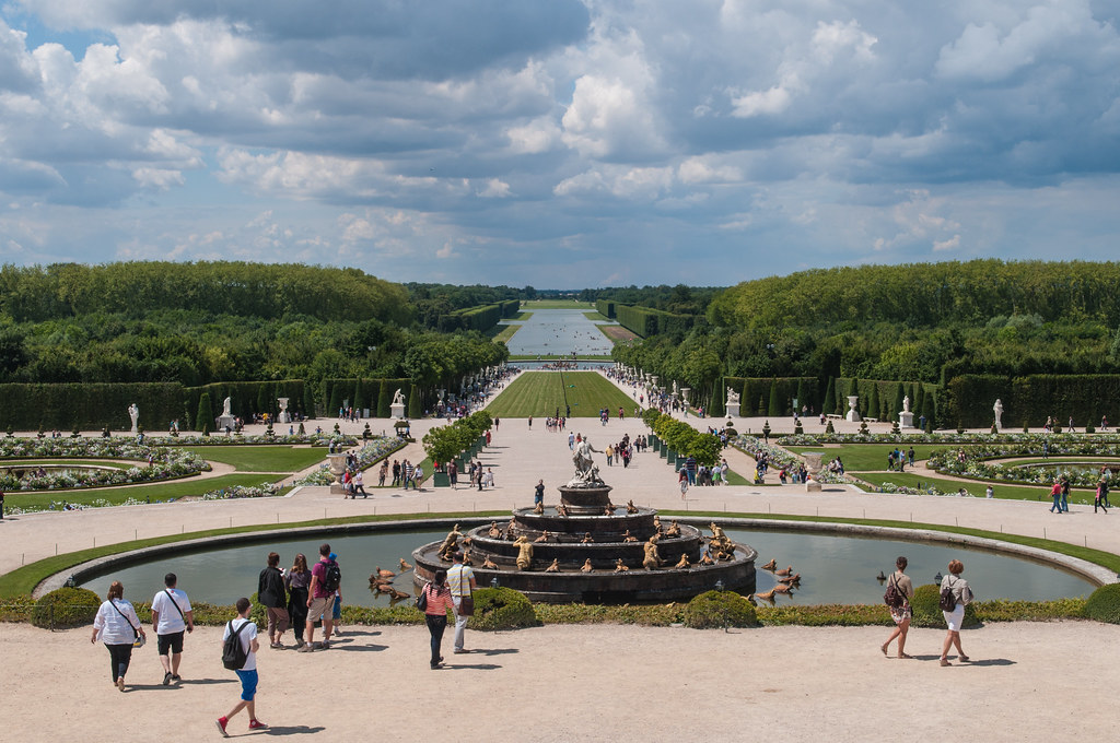 Gardens at Chateau de Versailles France  From the