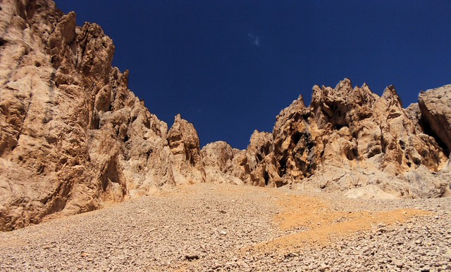 Looking up the very grim Kızılçarşak (Red Scree Field); it much, much quicker coming down by bryandkeith on flickr