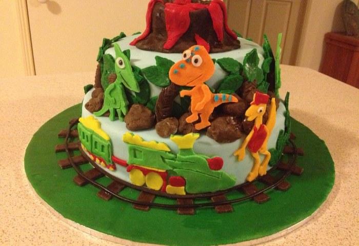 Dinosaur Train Themed Birthday Cake Dinosaur Train Themed Flickr