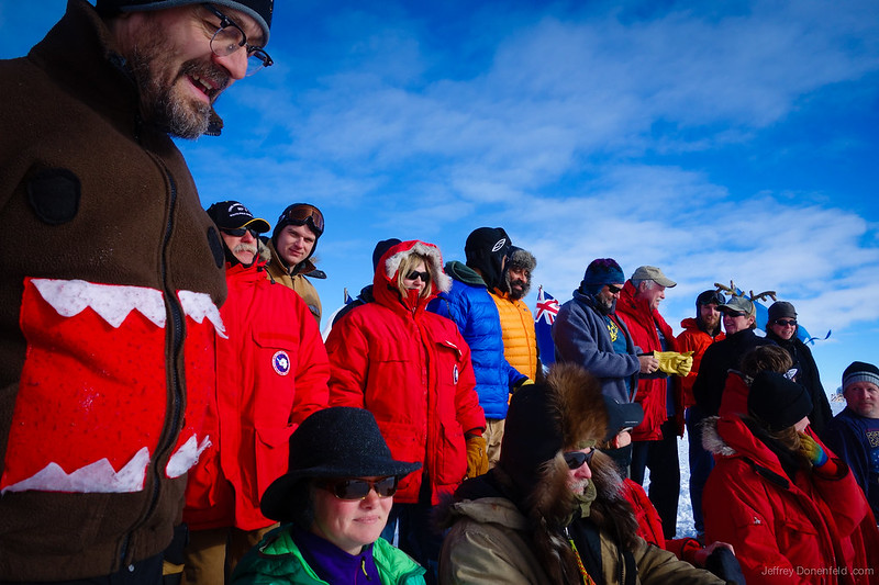 Shooting the South Pole Holiday Card
