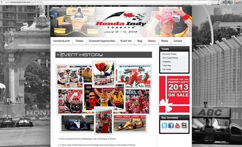 Honda Indy Toronto - Event History