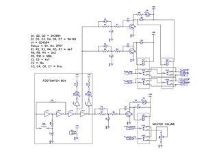 Master volume and attenuator switcher circuit diagram with