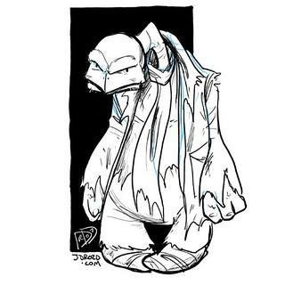 Morning sketching at Roos. Turtle vulture hermit guy. #bou