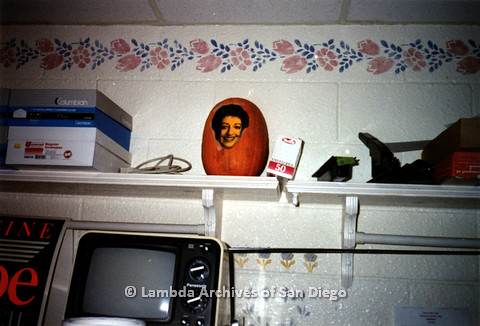 P151.034m.r.t A pumpkin with a photo pasted on it