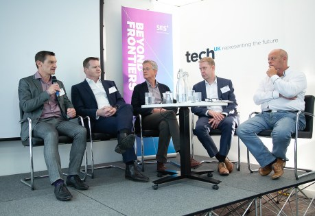 SES Ultra HD Conference 2018 - Anthony Jones, Principal Technologist, Media Solutions, Ericsson, Ian Trow, Consultant, Business Development and Technology, Peter Sykes, Strategic Technology Development Manager, Sony Professional Solutions Europe, Neil Maycock, Vice President of Global Marketing, Grass Valley, Mark Wilson-Dunn, Vice President - BT Media and Broadcast