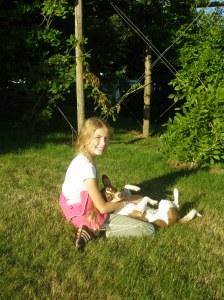 nina with her dog