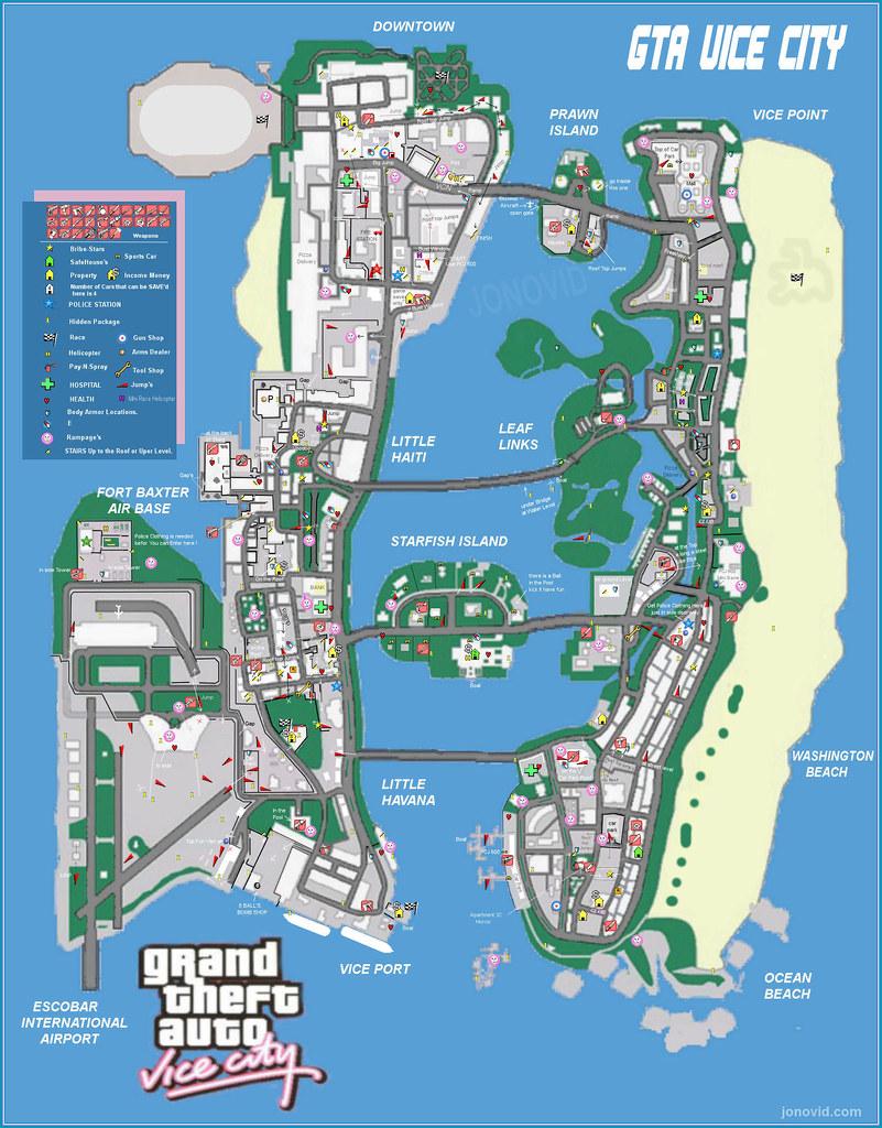 Vice City Properties : properties, Grand, Theft, Map…, Flickr