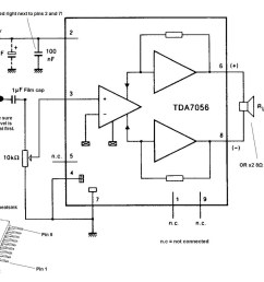 tda7056 audio amplifier circuit [ 1024 x 830 Pixel ]