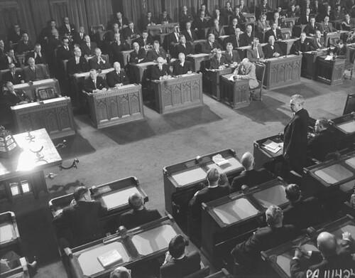 Prime Minister John Diefenbaker speaks in the House of Com  Flickr