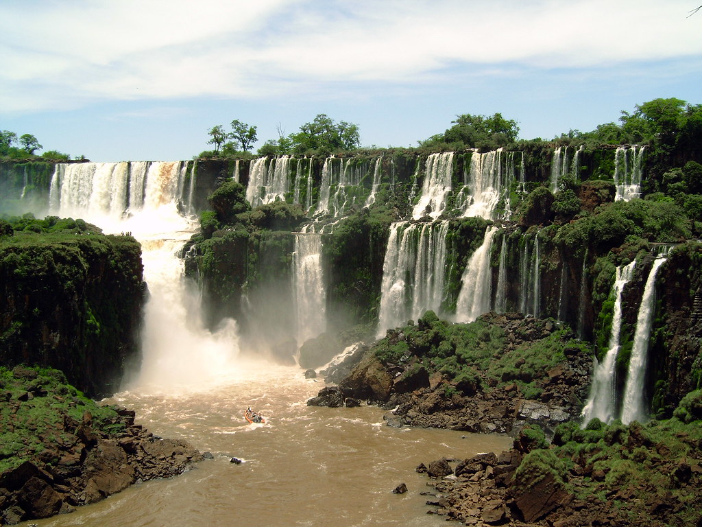 A Samba Dancing Waterfall Foz Do Iguacu Brazil