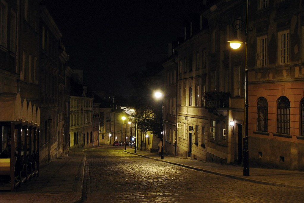 Welcome Fall Wallpaper Old Street At Night Mostowa Street On The New Town In
