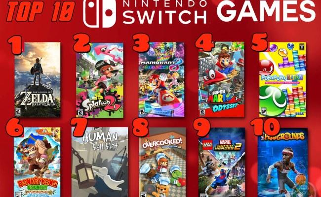 Top 10 Nintendo Switch Games Top 10 Week 2018 Keeps
