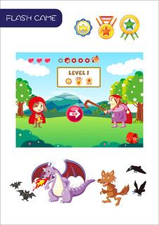 FLASH GAME | 工作-遊戲介面設計&繪製 使用軟體:illustrator | 詩晴 王 | Flickr