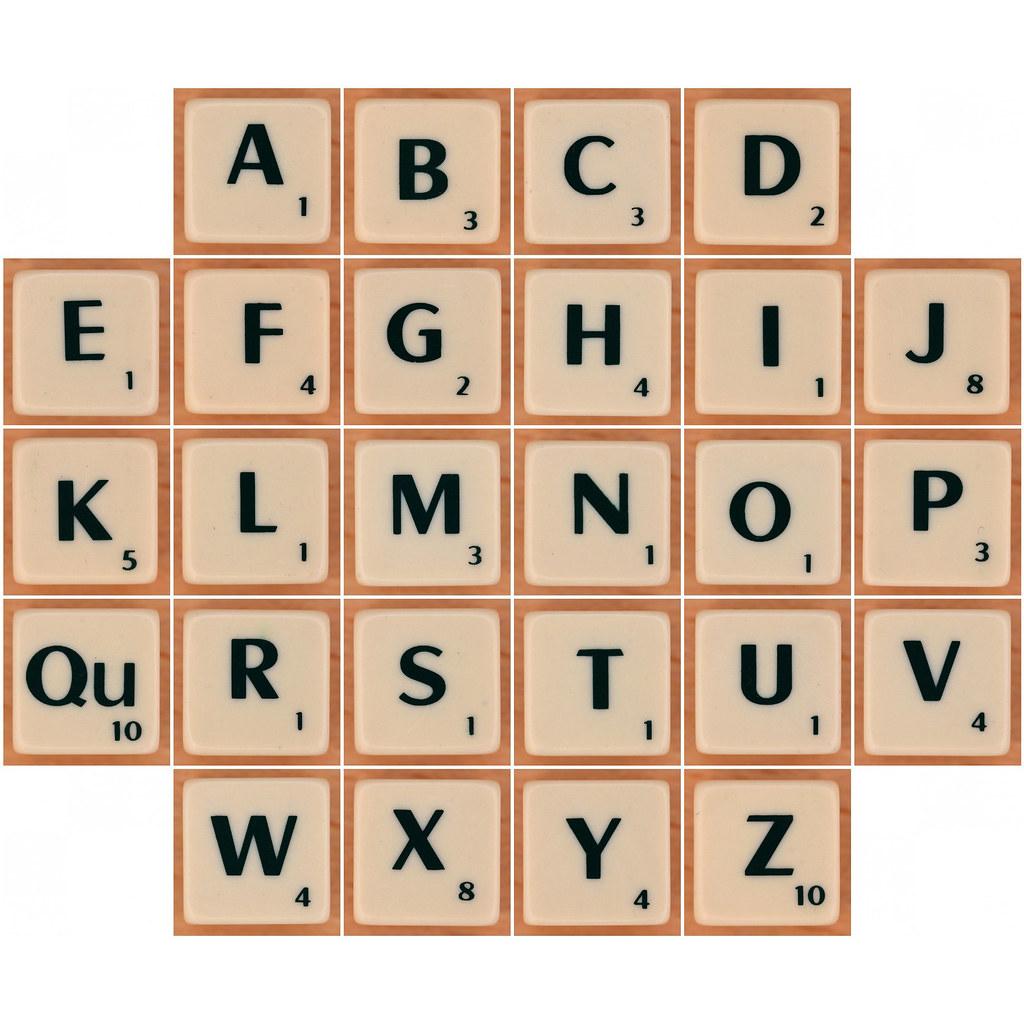 Scrabble Scramble Dice Letters