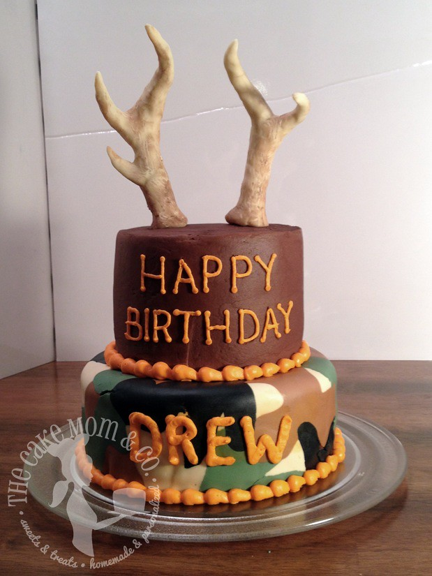 deer hunting birthday cake