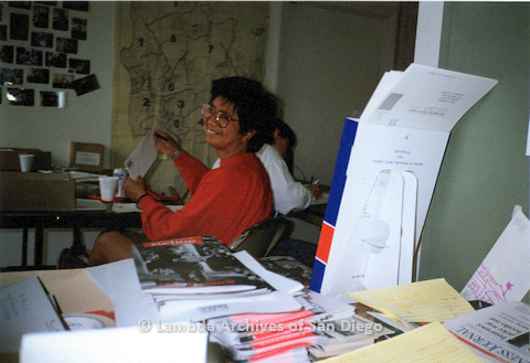 P151.036m.r.t Woman working in campaign office
