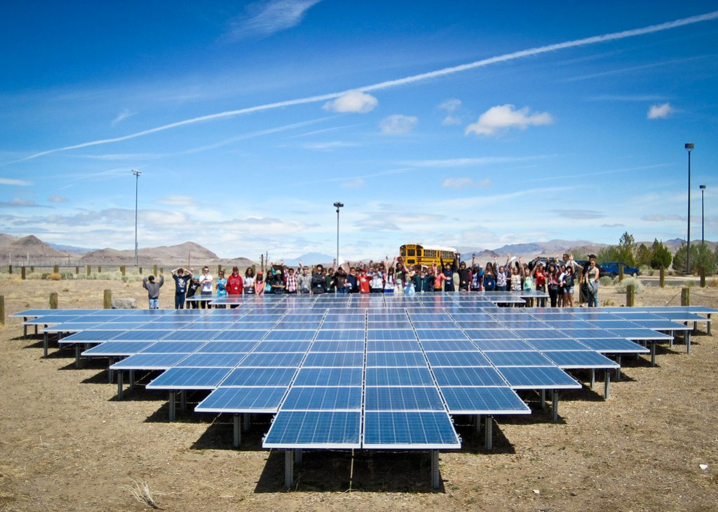Black Rock Solar educational field trip at Pyramid Lake Museum and Visitor Center