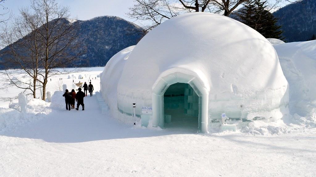 Ice Cafe Lake Shikaribetsu Igloo Village Tokachi Hokkai