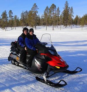 The snowmobile F1 team