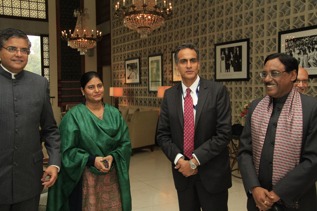 Amb Verma hosts lunch for Congress delegation, Jan 26 2015