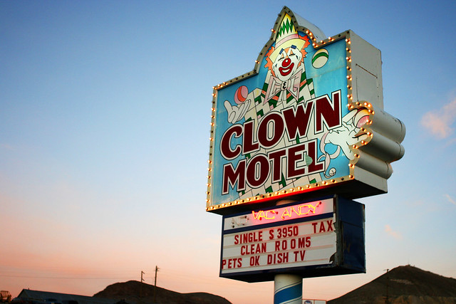 Clown Motel Sign