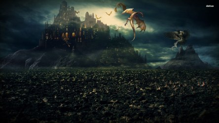 fantasy castle hd dragon wallpapers dragons medieval attacking background 4k desktop wall mountain clouds following fire galaxy