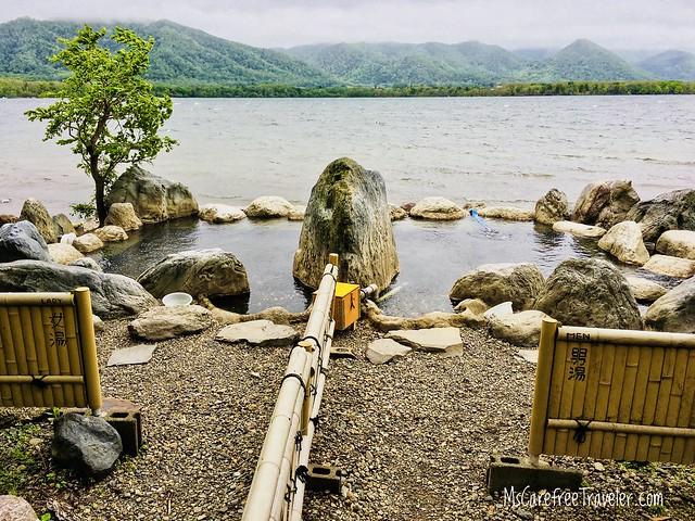 Kotan Onsen open-air bath at Lake Kussharo Hokkaido Japan
