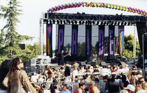 1995 - San Diego LGBT Pride Festival: Entertainment Main Stage Area.