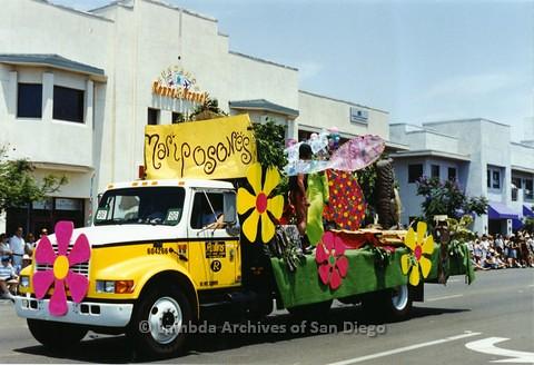 1994 - San Diego LGBT Pride Parade: Contingent - Mariposones Float.