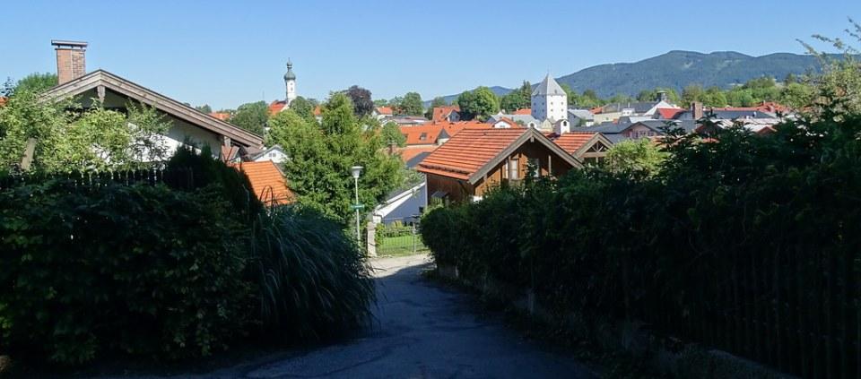 vista del pueblo de Lenggries Baviera Alemania 01
