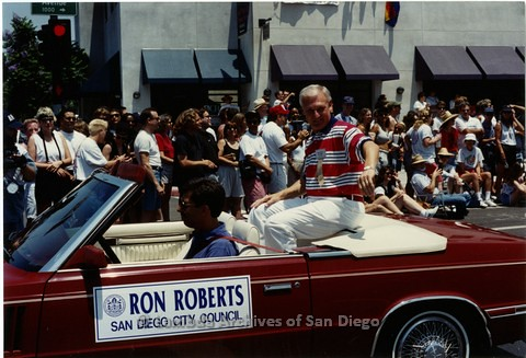 1994 - San Diego LGBT Pride Parade: Contingent - Ron Roberts, San Diego City Council Member.