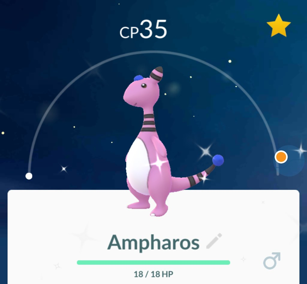 shiny ampharos cp35 on