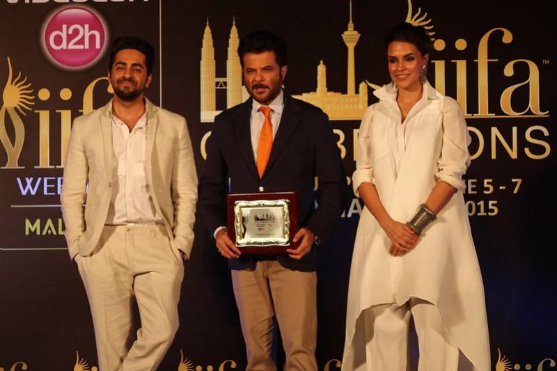 L-R - Ayushmann Khurrana, Neha Dhupia & Anil Kapoor