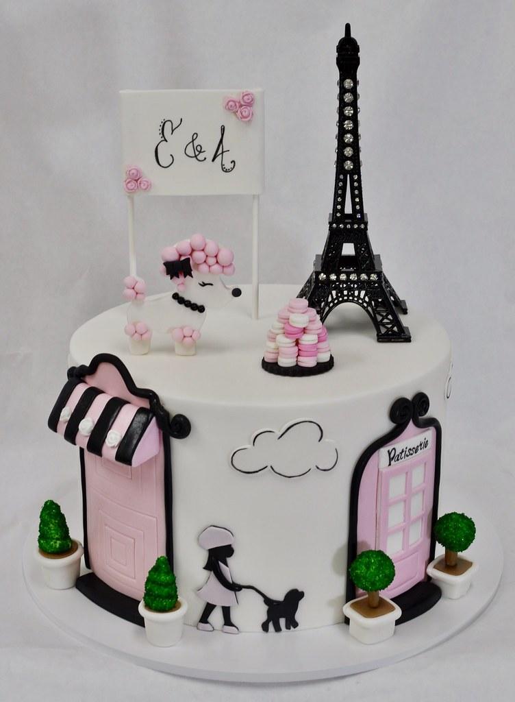 Paris Themed Birthday Cake Jenny Wenny Flickr