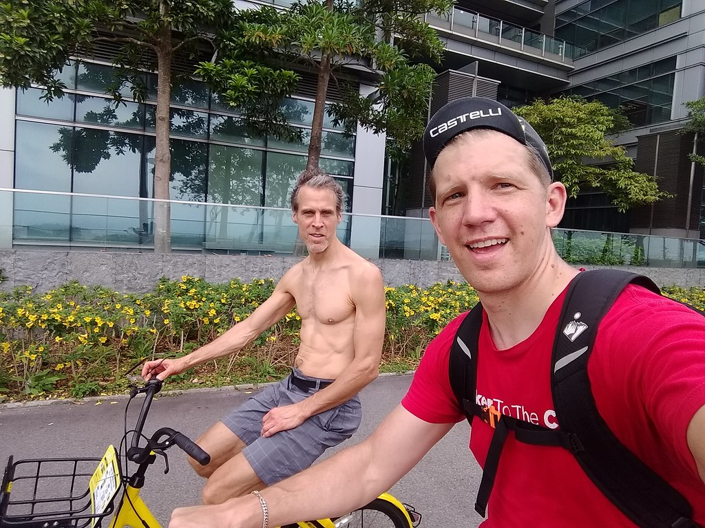 On a Pair of Ofo Bikes in Hong Kong