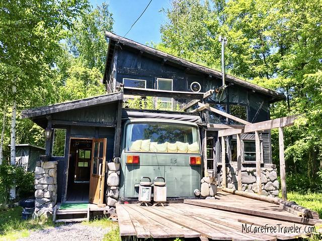 Goro's House made from Recycled Materials Furano Hokkaido Japan