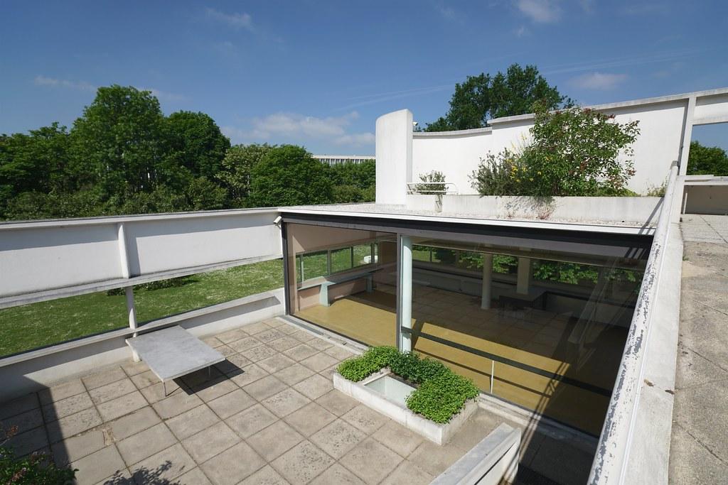 Roof terrace and living room Villa Savoye  Villa Savoye