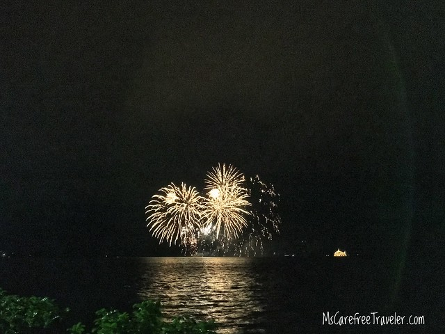 Fireworks over Lake Toya Hokkaido Japan
