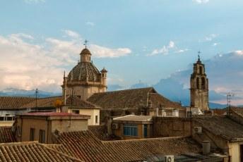 Het uitzicht vanuit mijn kamer, de koepel van de Camarín de Nuestra Señora del Rosario Coronada. Zoals mijn vriendin laatst nog zei: 'Da's een hele mond vol'.