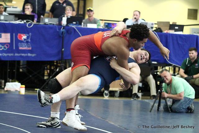 Gable Steveson vs Anthony Cassiopeia. 180518AJF0169