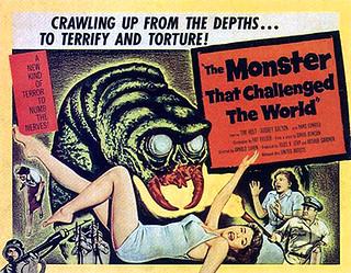 Imagen 5. Cartel para El monstruo que desafió al mundo.