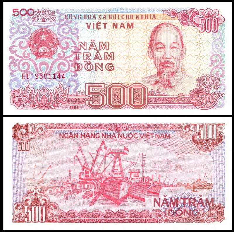 Viet Nam - PN# 101B, 1988; 500 Dong