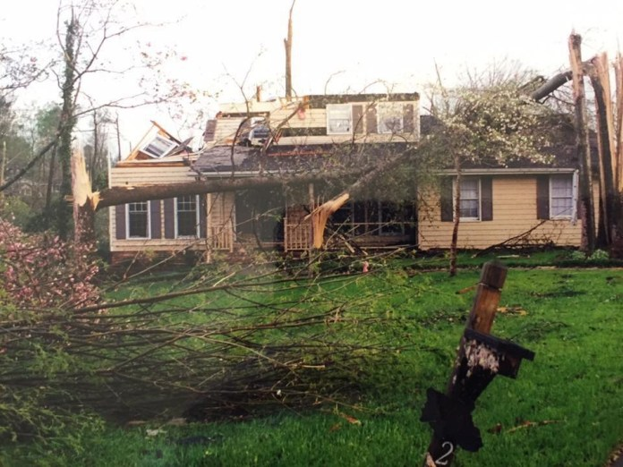 Heyward's house that barely got damaged.