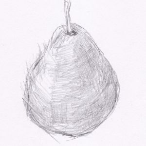 pencil shading easy drawing beginners lesson sketch pear graphite layer south