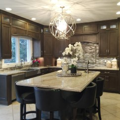 Kitchen Updates 3 Light Island Pendant Before After With Major Impact Aco Mahogany