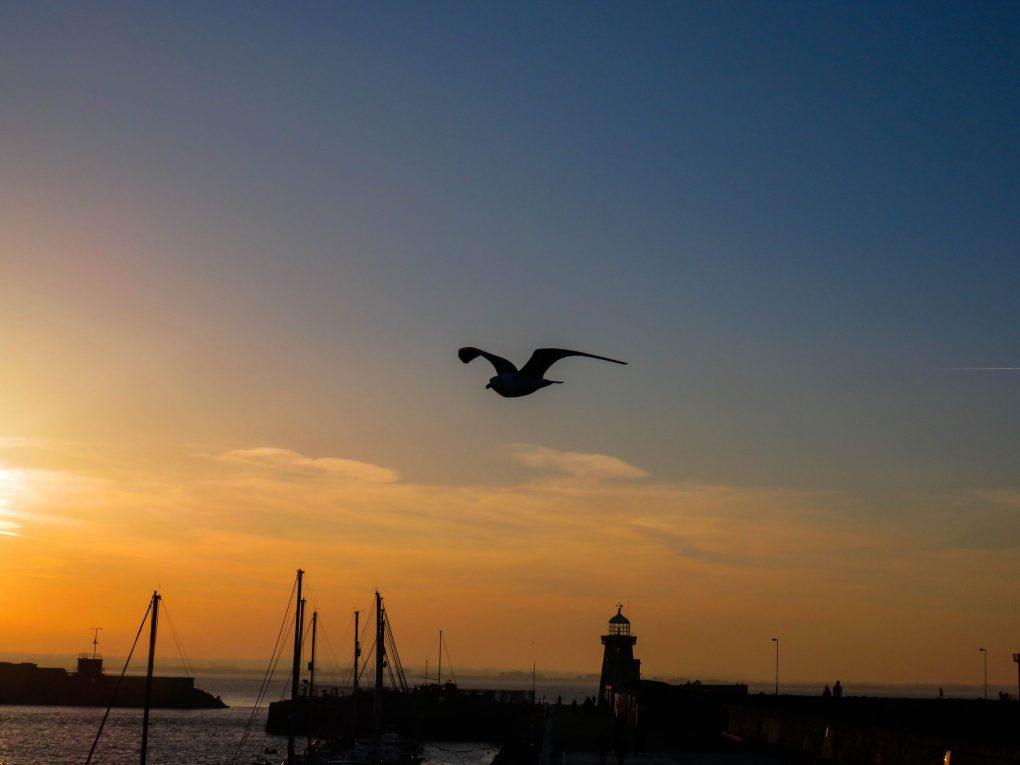 sunset in Dublin Ireland Howth