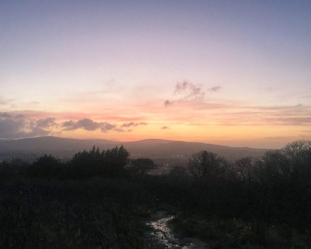 sunset in Dublin Ireland Bray Head
