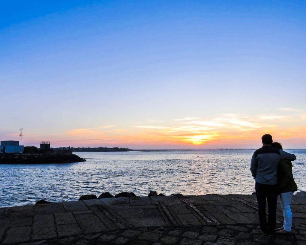 sunset in Dublin Ireland