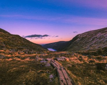 Sunset, Glendalough, Ireland